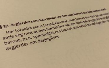 Barnelova paragraf 37 med lovkommentar