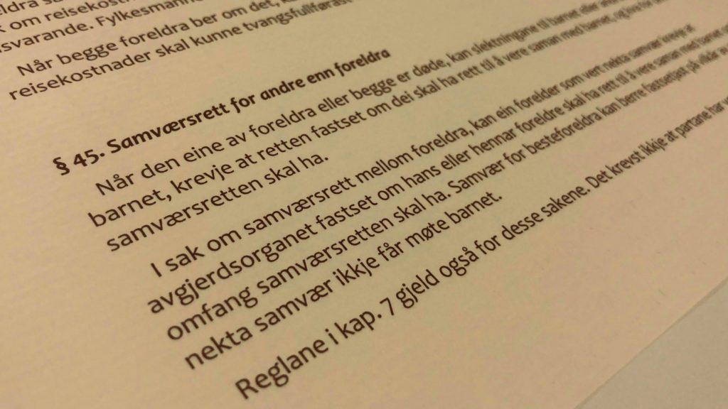 Barnelova paragraf 45 med lovkommentar