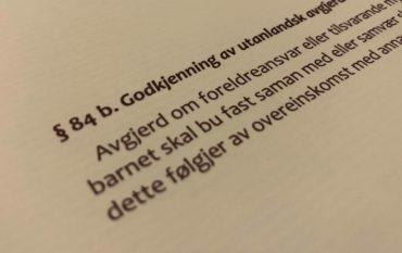 Barnelova paragraf 84b med lovkommentar