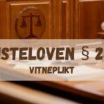 Tvisteloven § 24-1. Vitneplikt